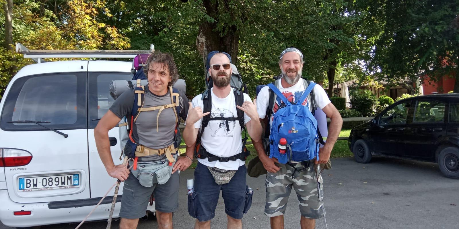 I Fratelli Cengarle da Belgrado alla sorgente del Tagliamento a piedi daI 20 settembre 2019