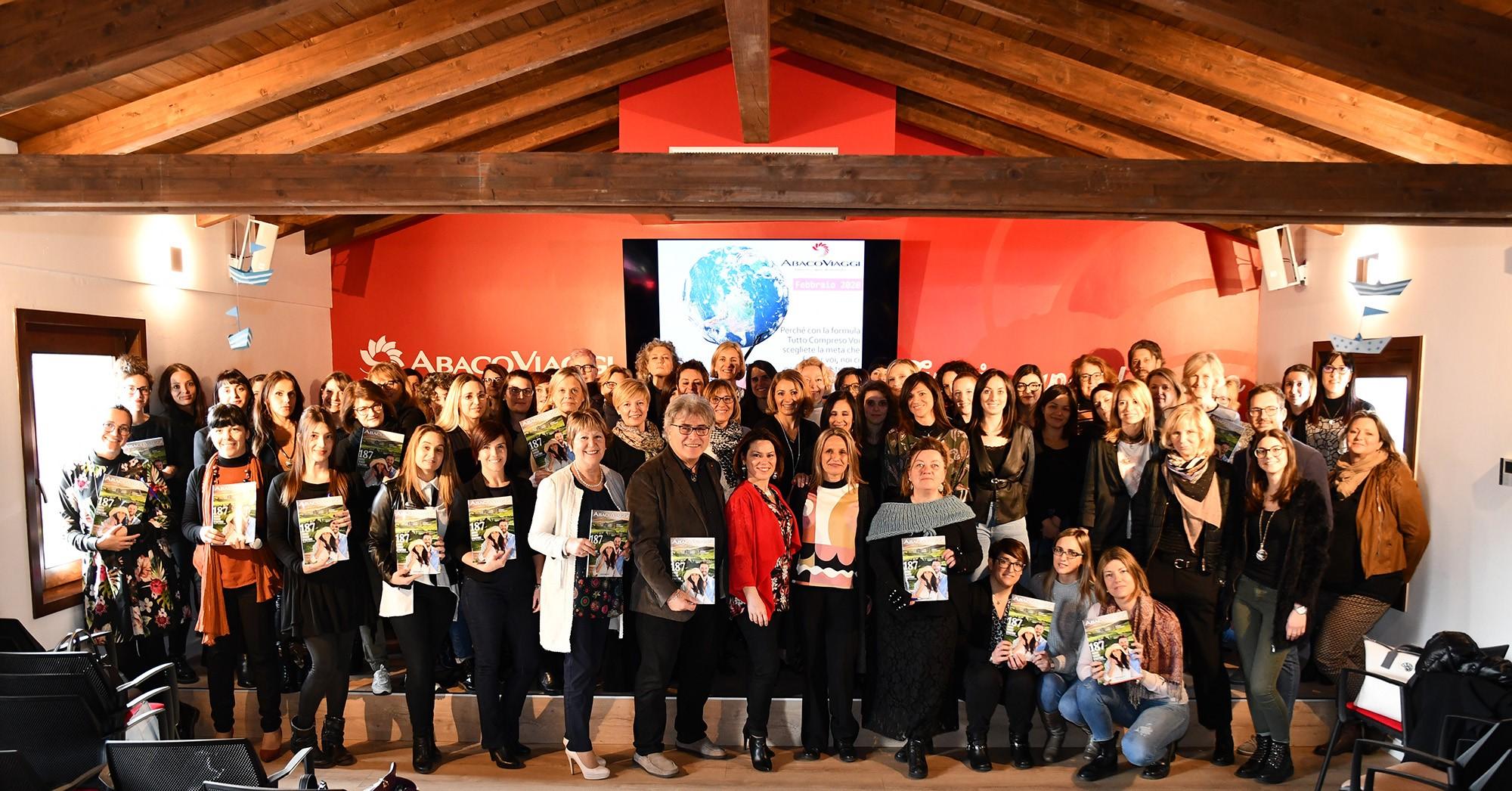 Meeting di formazione Abaco Viaggi con 80 Agenzie Point friuli – Codroipo 19 febbraio 2020