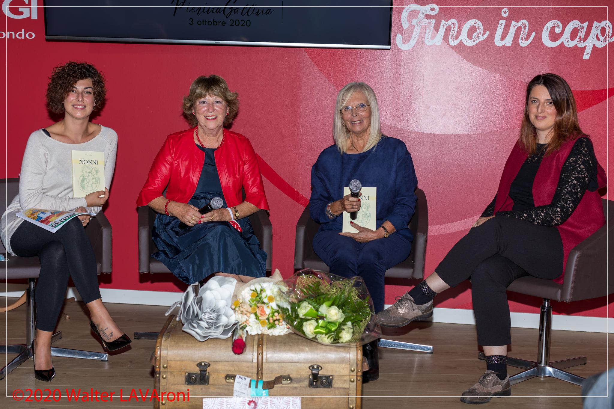 Con Luisa Venuti, Elisabetta Imperio, Fabia Romano       presentazione NONNI  3 ottobre 2020